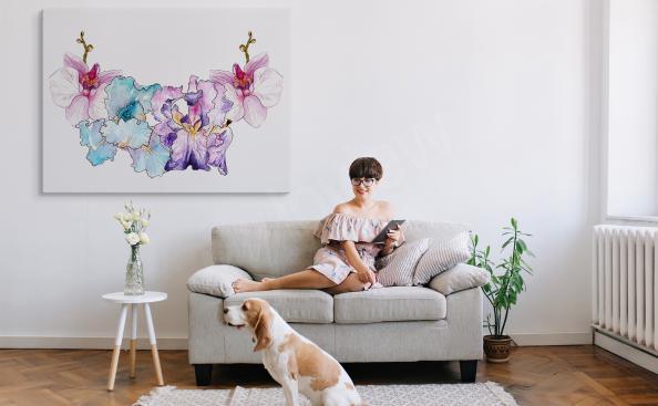 Kolorowy obraz orchidea