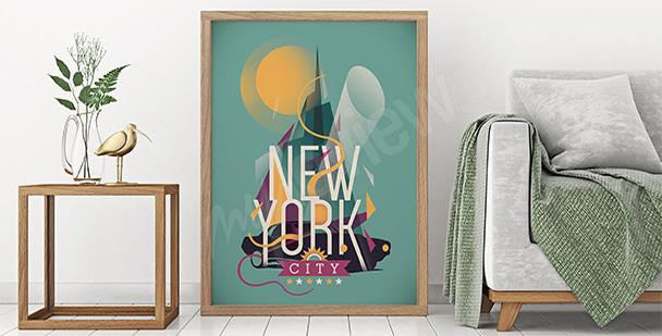 Kolorowy plakat Nowy Jork