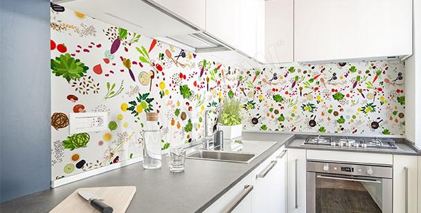 Kuchenna fototapeta z warzywami