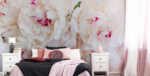 Kwiatowa fototapeta do sypialni