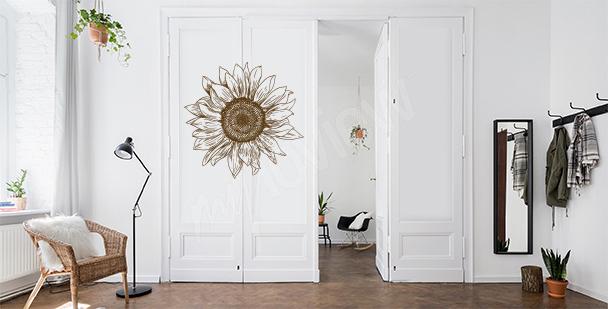 Kwiecista naklejka na drzwi