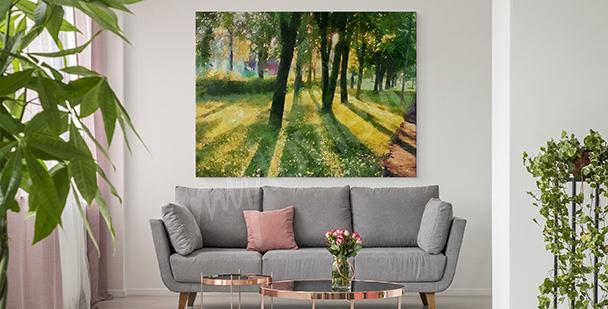 Letni obraz zieleń