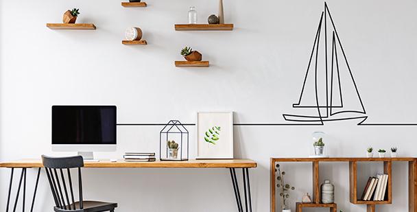 Minimalistyczna naklejka do biura
