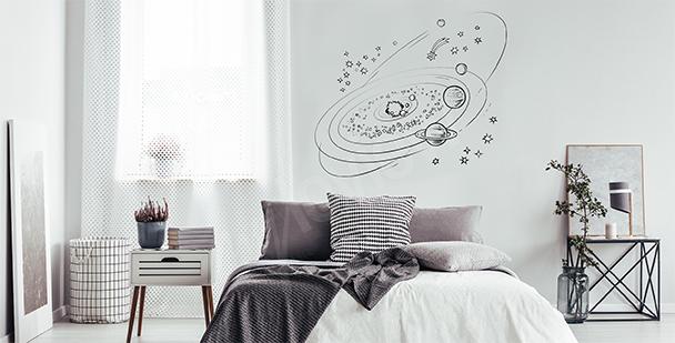Minimalistyczna naklejka galaktyka