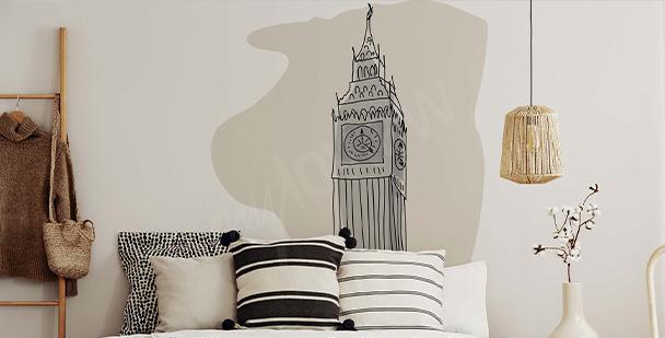 Minimalistyczna naklejka Londyn