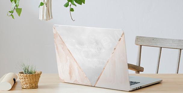 Naklejka na laptopa zygzak