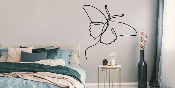 Naklejka białe motyle