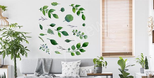 Minimalistyczna naklejka zieleń