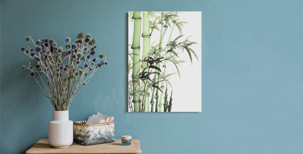 Minimalistyczny obraz bambus