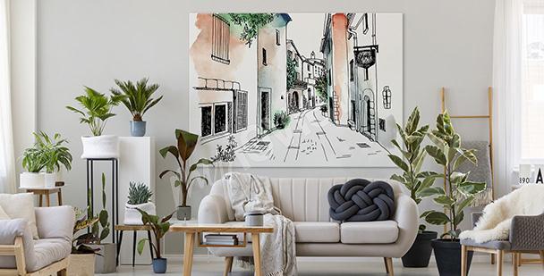 Minimalistyczny obraz do salonu