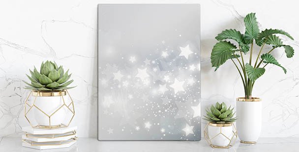Obraz biała gwiazda w salonie