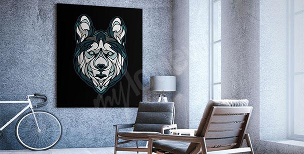 Minimalistyczny obraz wilk