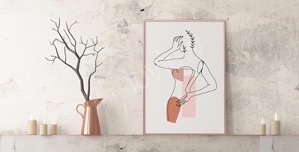 Minimalistyczny plakat do łazienki