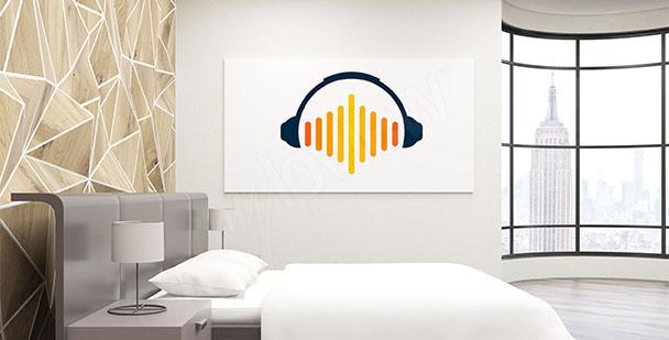 Minimalistyczny plakat muzyczny