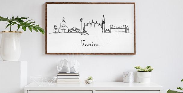 Minimalistyczny plakat Wenecja