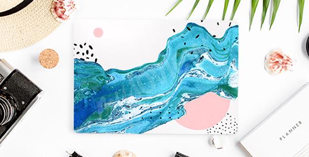 Naklejka niebieska abstrakcja