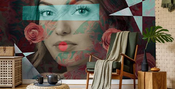 Fototapeta z kobietą do salonu