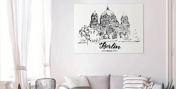 Monochromatyczny obraz Berlin