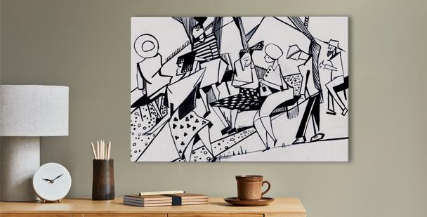 Obraz inspirowany kubizmem