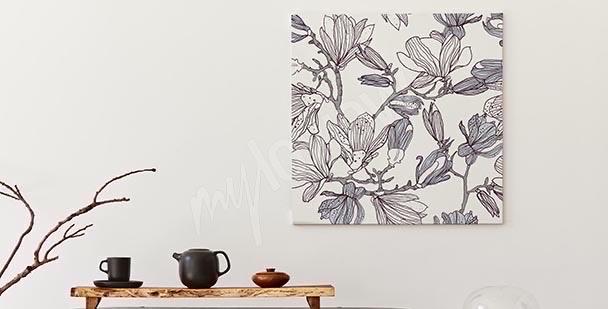 Monochromatyczny obraz magnolia