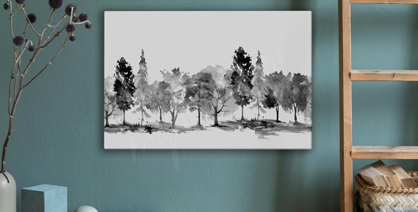 Monochromatyczny obraz park