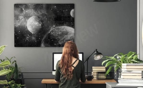 Monochromatyczny obraz planety