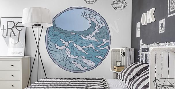 Morska naklejka do sypialni