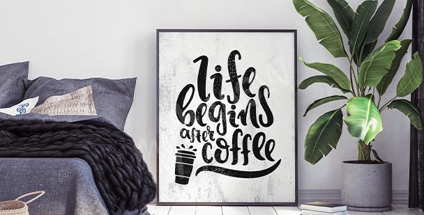 Typograficzny plakat do sypialni