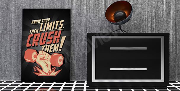 Motywacyjny plakat sportowy