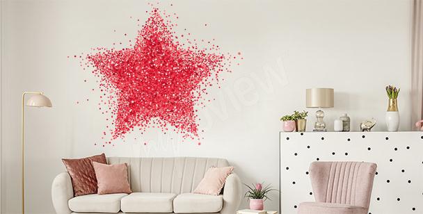 Naklejka abstrakcyjna gwiazda