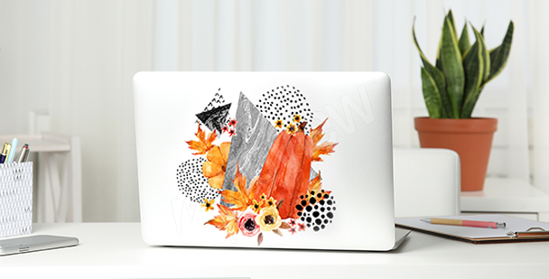 Naklejka abstrakcyjna na laptopa