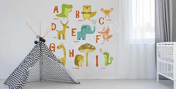Naklejka alfabet: angielskie wyrazy