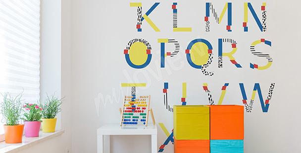 Naklejka alfabet do pokoju dziecka