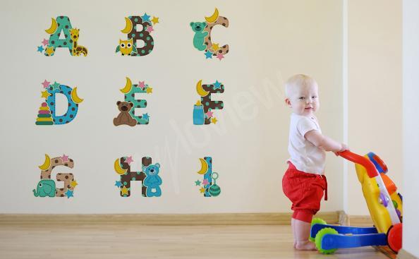 Naklejka alfabet ze zwierzętami