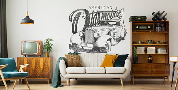 Naklejka amerykańskie auto