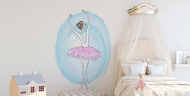 Naklejka baletnica w pastelach