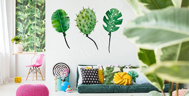 Naklejka balony z liści