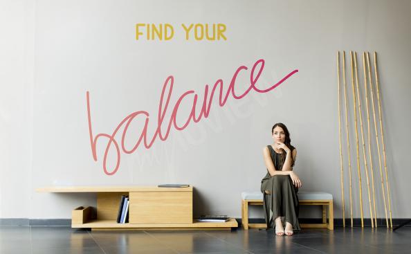 Naklejka cytaty znajdź równowagę
