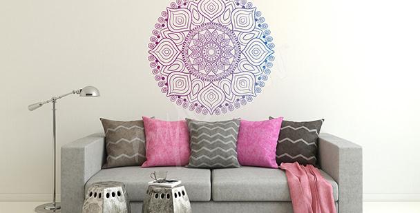 Naklejka dekoracyjna mandala do salonu