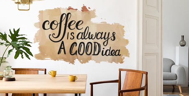 Naklejka dla miłośników kawy