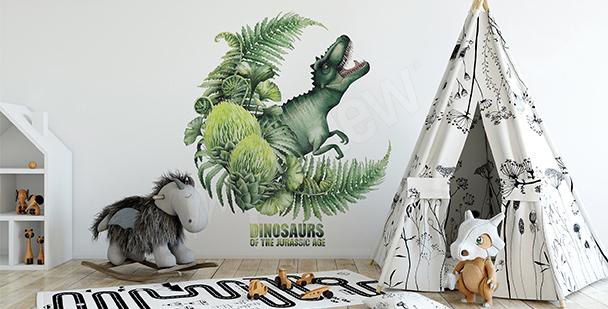 Naklejka do pokoju chłopca dinozaur