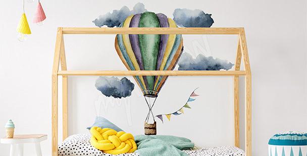 Naklejka do pokoju dziewczynki balon