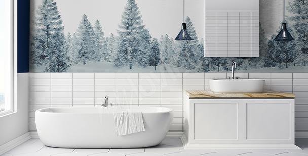 Naklejka drzewa do łazienki