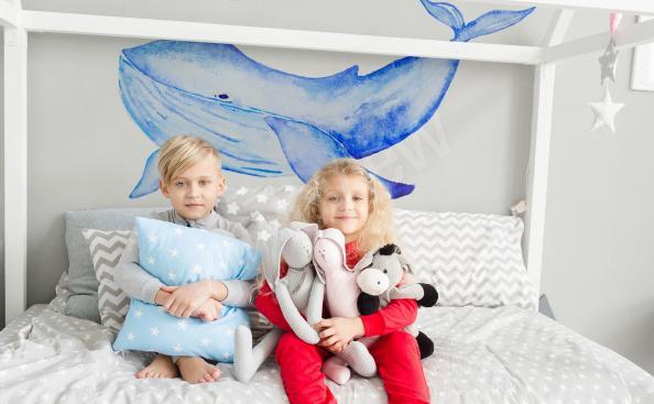 Naklejka dziecięcy pokój wieloryb
