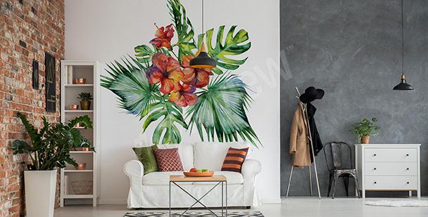 Naklejka egzotyczna roślina