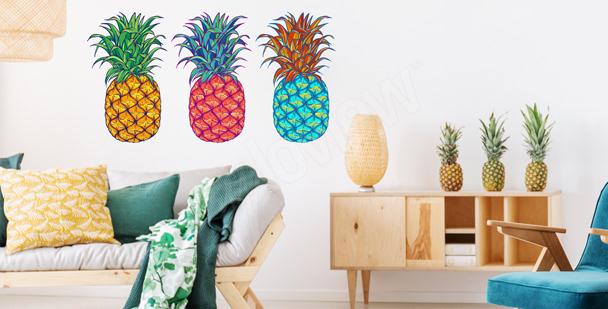 Naklejka egzotyczne owoce