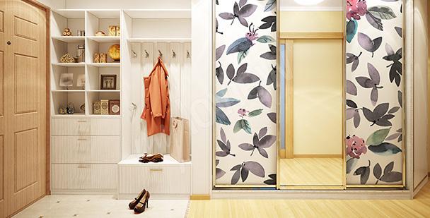 Naklejka egzotyczne liście na szafę