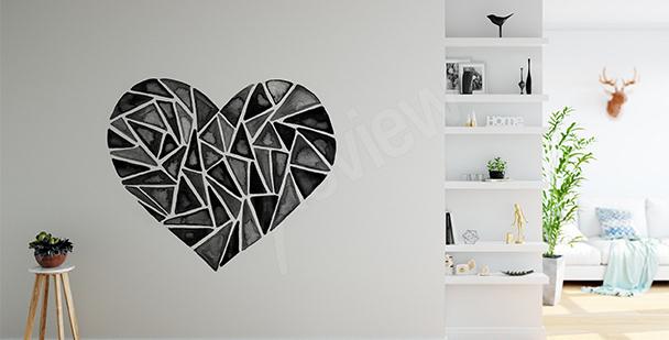 Naklejka geometryczne serce