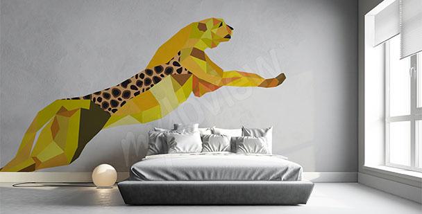 Naklejka geometryczny gepard