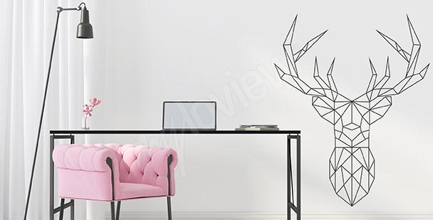 Naklejka geometryczny jeleń